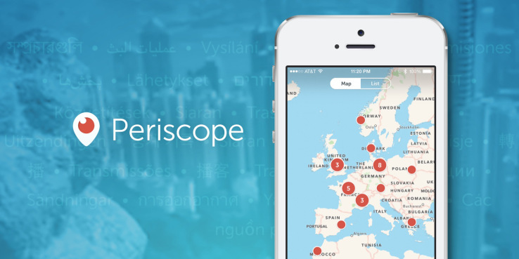 Periscope Twitter Global Maps immagine Docnrolla