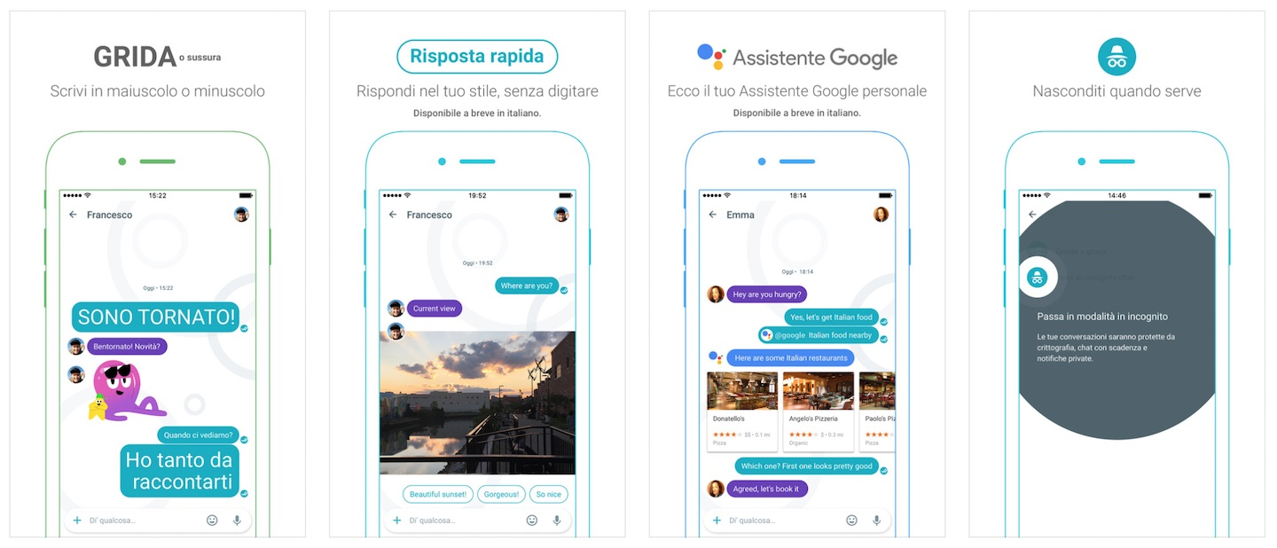 Screenshot Google Allo App