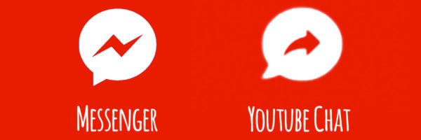 Confronto tra icona Youtube Chat e Messenger